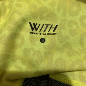 WITH Neon Yellow Cheetah Legging